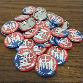 Odznaky pre politické strany a hnutia