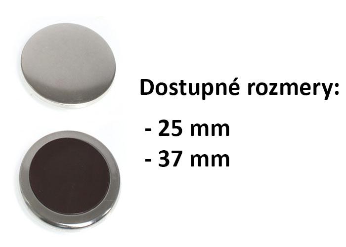 Výroba magnetiek - kruhový tvar