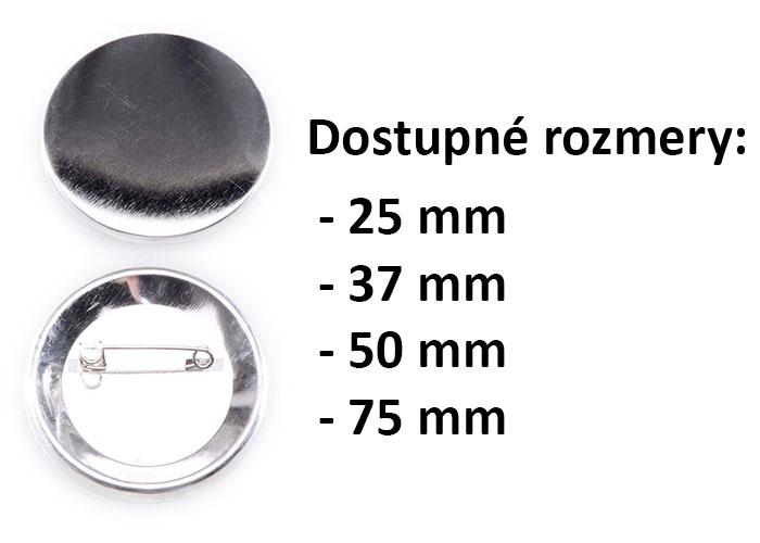 Výroba odznakov so špendlíkom kruhových priemerov