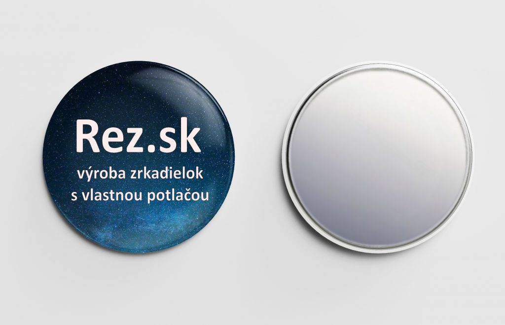 Rez.sk - výroba zrkadielok s vlastnou potlačou