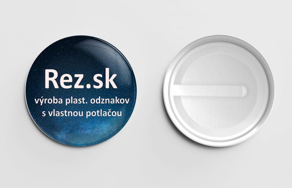 Rez.sk - výroba odznakov s plastovou sponou