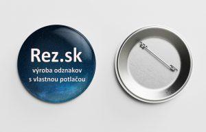 Rez.sk - výroba odznakov so špendlíkom