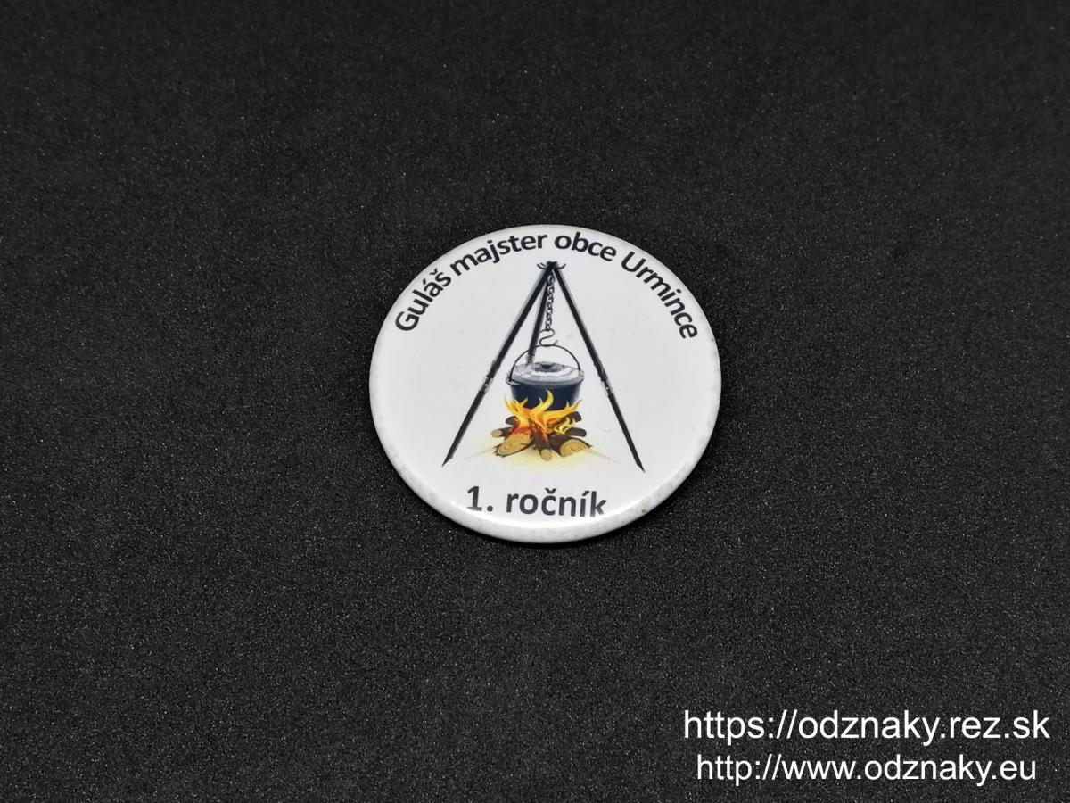 Odznaky na súťaže - Guláš majster obce Urmince
