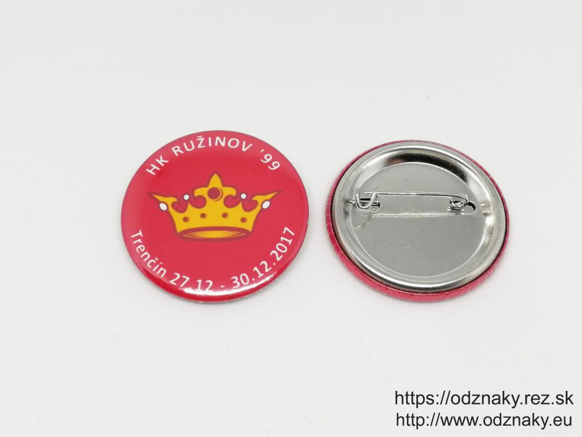 Odznaky pre športový klub HK Ružinov
