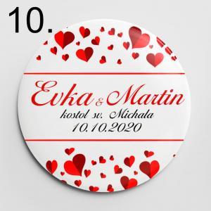 Vzor 10 - odznaky a magnetky na svadbu