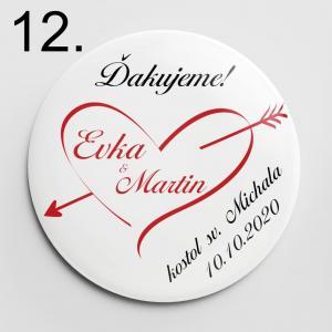 Vzor 12 - odznaky a magnetky na svadbu