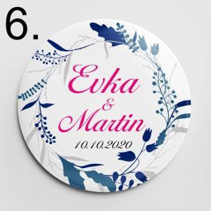 Vzor 6 - svadobné odznaky a magnetky