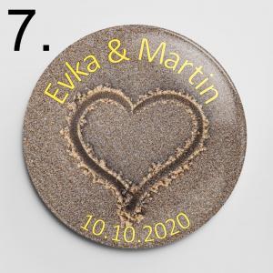 Vzor 7 - svadobné odznaky a magnetky