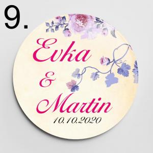 Vzor 9 - svadobné odznaky a magnetky