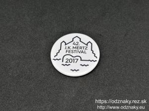 Odznaky na festival J.K.Mertz