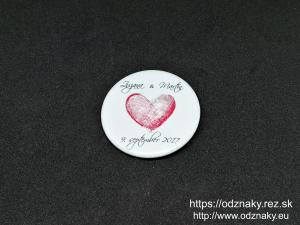 Odznaky na svadbu - jednoduche