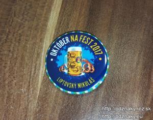 Odznaky, ktoré sme vyrábali na pivný festival Október na Fest.